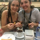 dipping our churros in chocolate