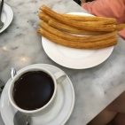 churros with chocolate!