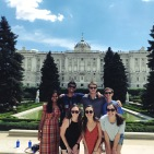 royal palace of madrid with the group