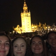 la giralda and us looking like eggs